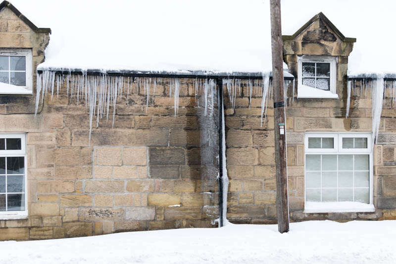 Powburn icicles