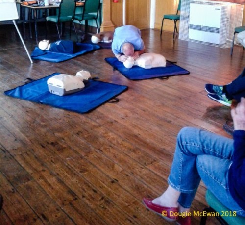 Defibrillator Training Success May 2018 demonstration 2