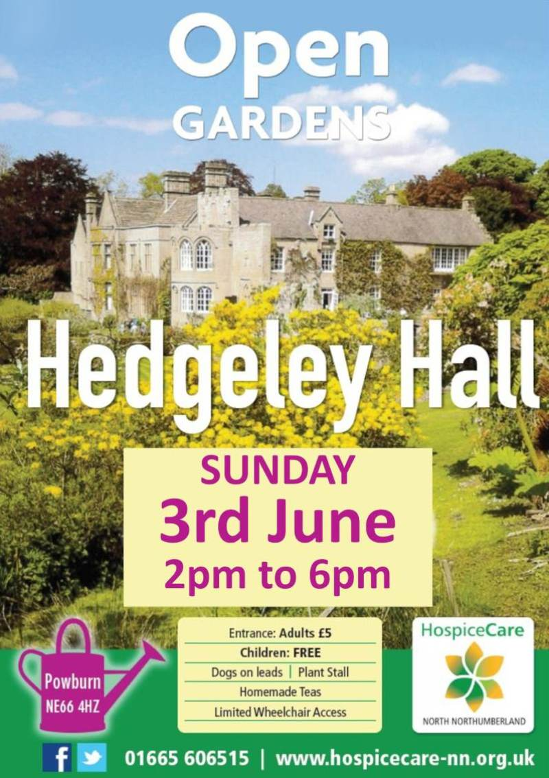 open gardens Hedgeley Hall 2018 PDF poster