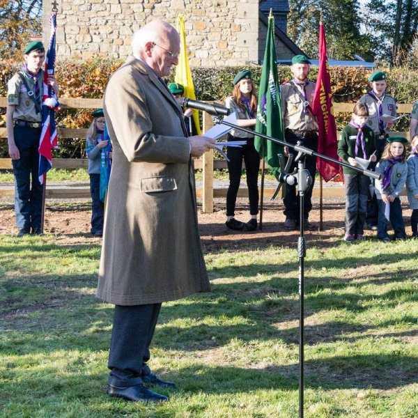 John Carr-Ellison - - Breamish Valley War Memorial dedicated
