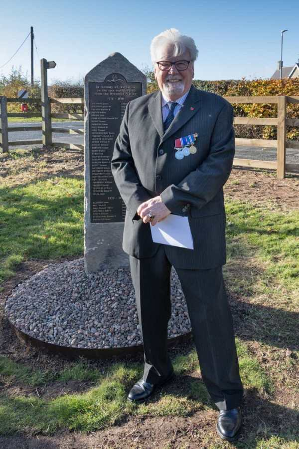 Robbie Burn - Breamish Valley War Memorial dedicated