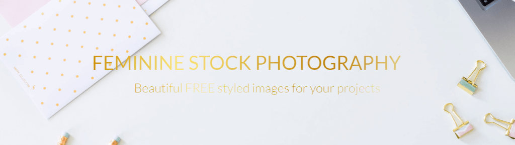 Styled Stock is a small collection of free photos with a defined feminine style
