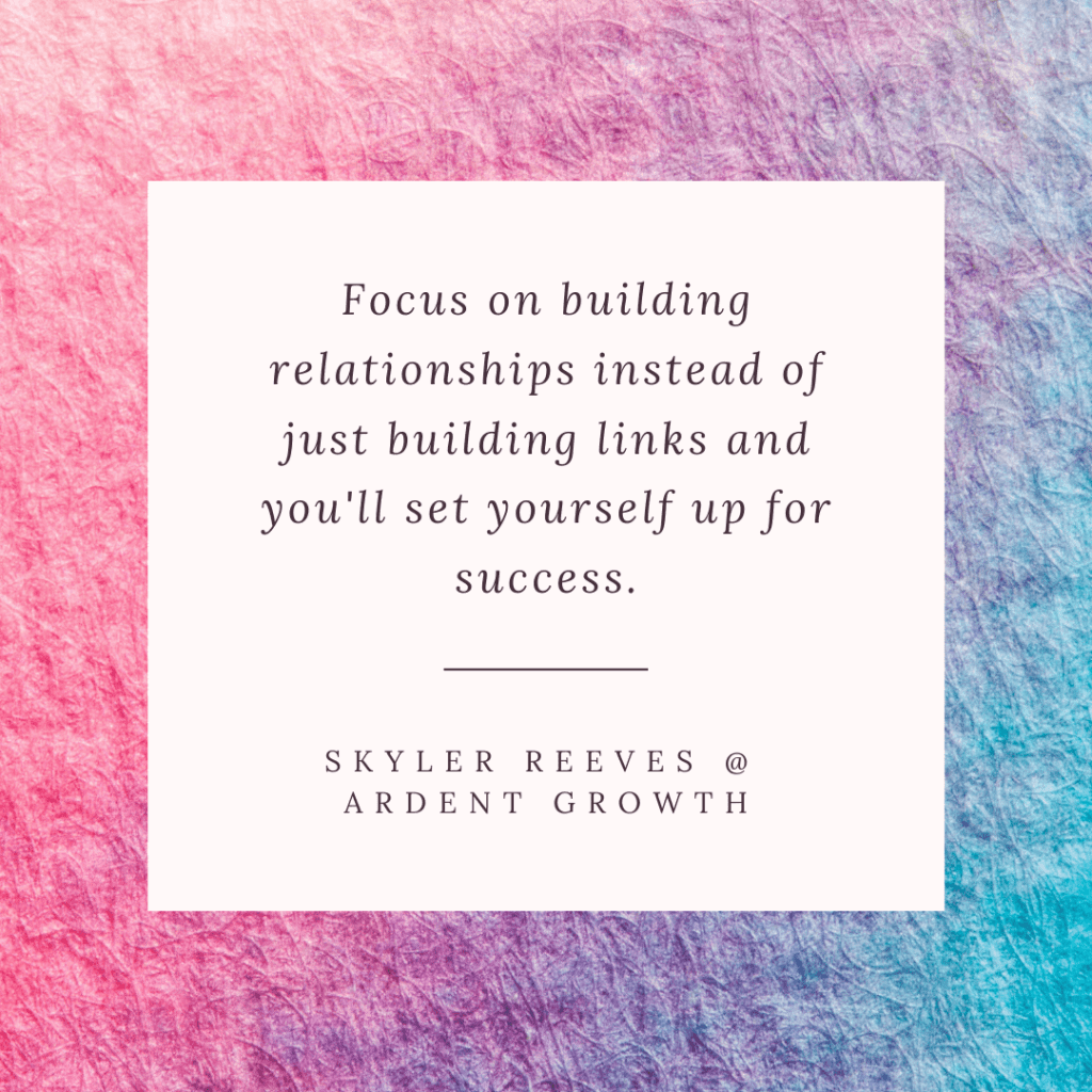 Quote- Skyler Reeves @ Ardent Growth