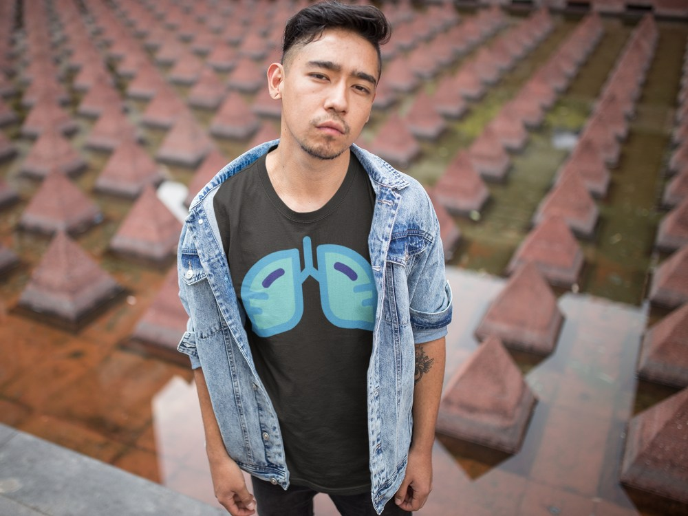 Man by water in Jean jacket Galaxy Icon DGY Tee