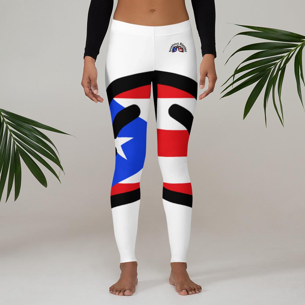 Breathing Puerto Rico White Leggings