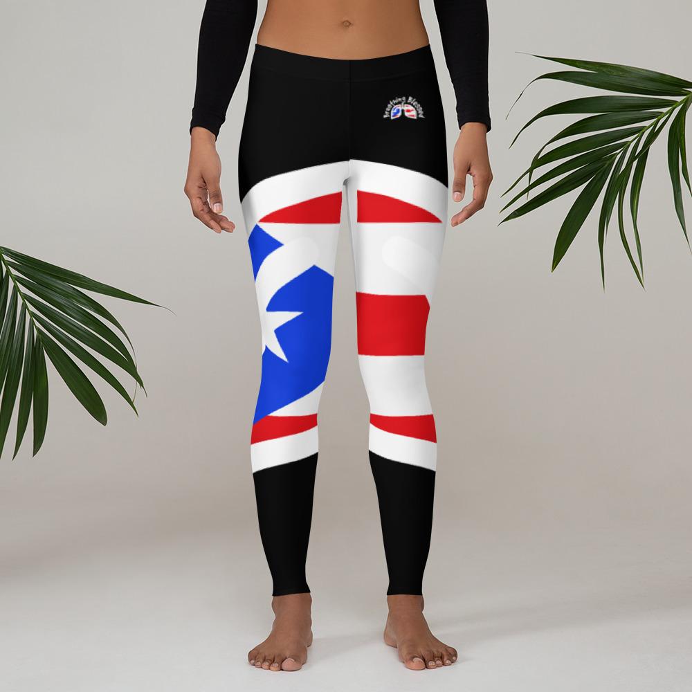 Breathing Puerto Rico Black Leggings