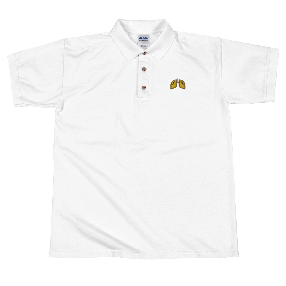 Gold Icon Embroidered Polo Shirt