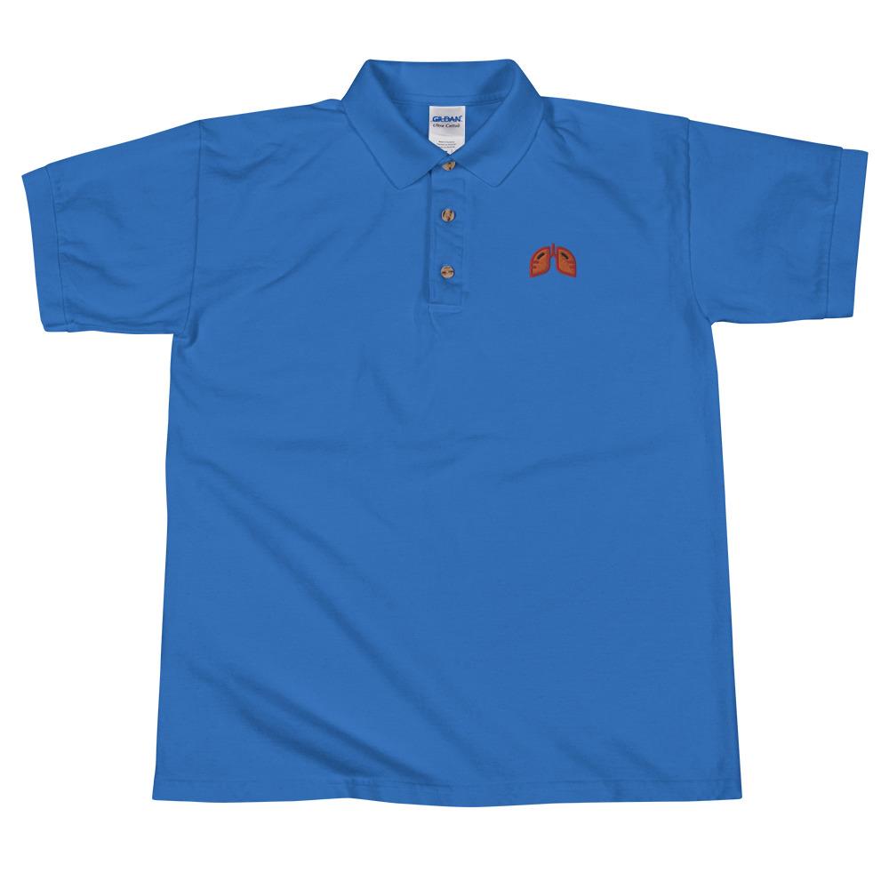 Orange Icon Embroidered Polo Shirt