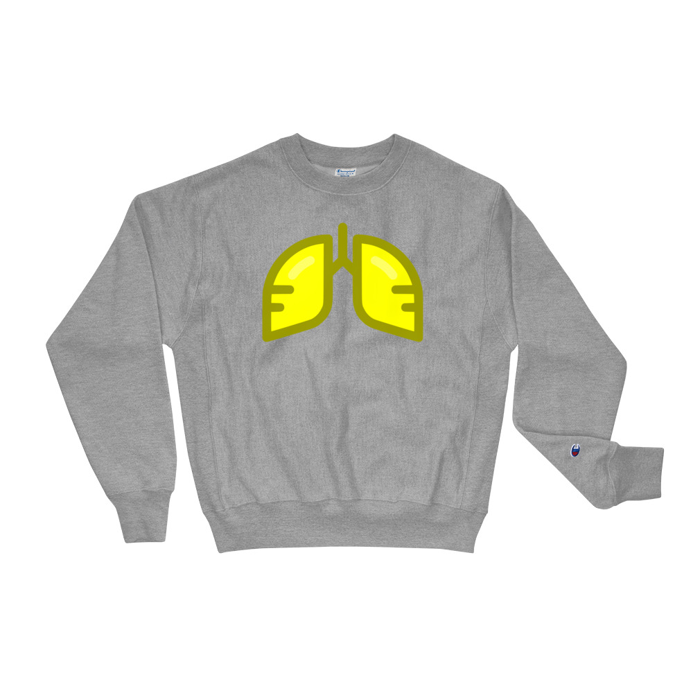 BB Neon Yellow Champion Sweatshirt