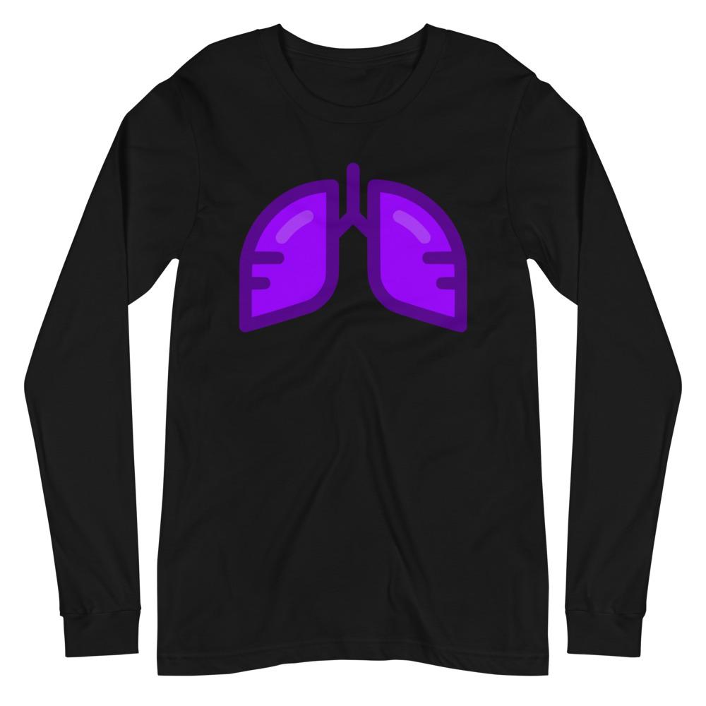 Neon Purple Icon Long Sleeve Tee
