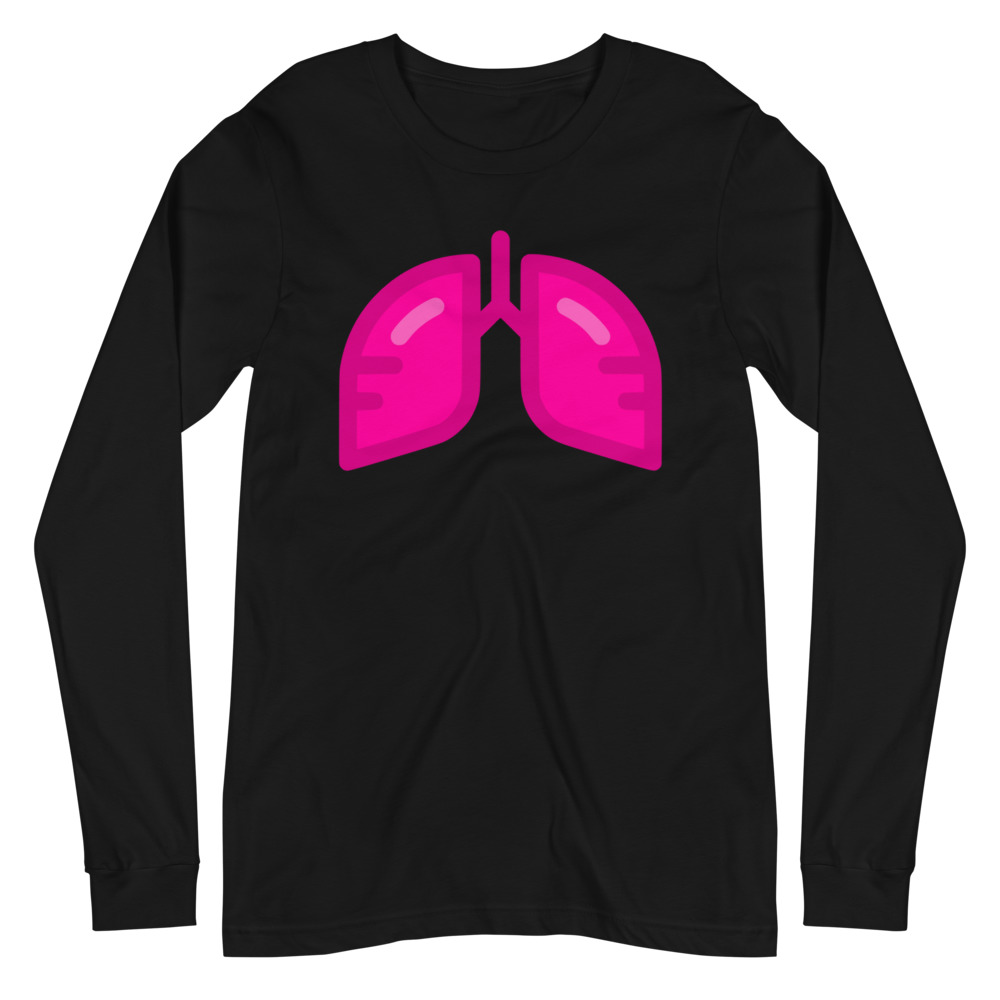 Neon Pink Icon Long Sleeve Tee