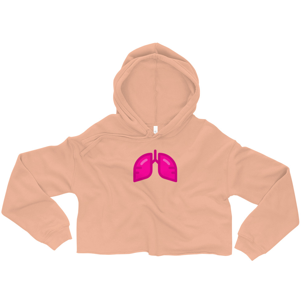 Neon Pink Icon Crop Hoodie