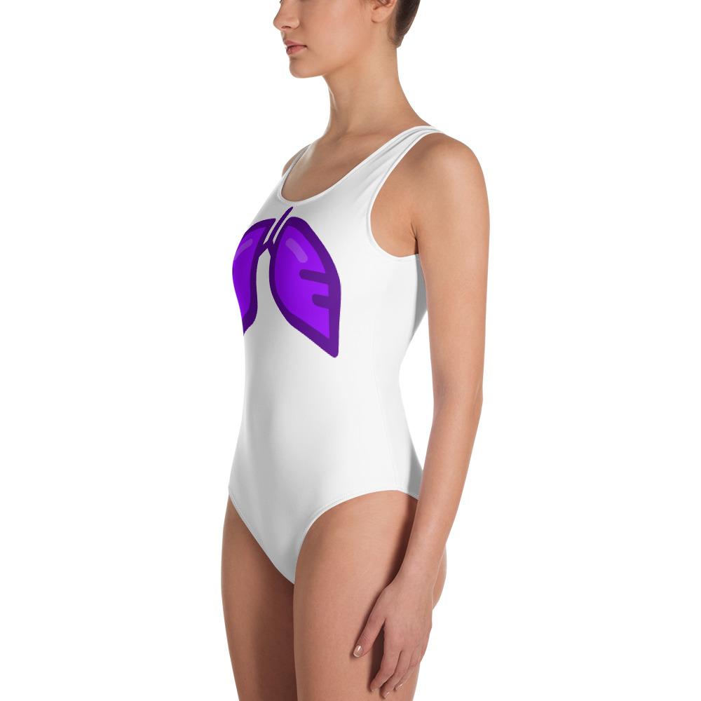 Neon Purple Icon One-Piece Swimsuit