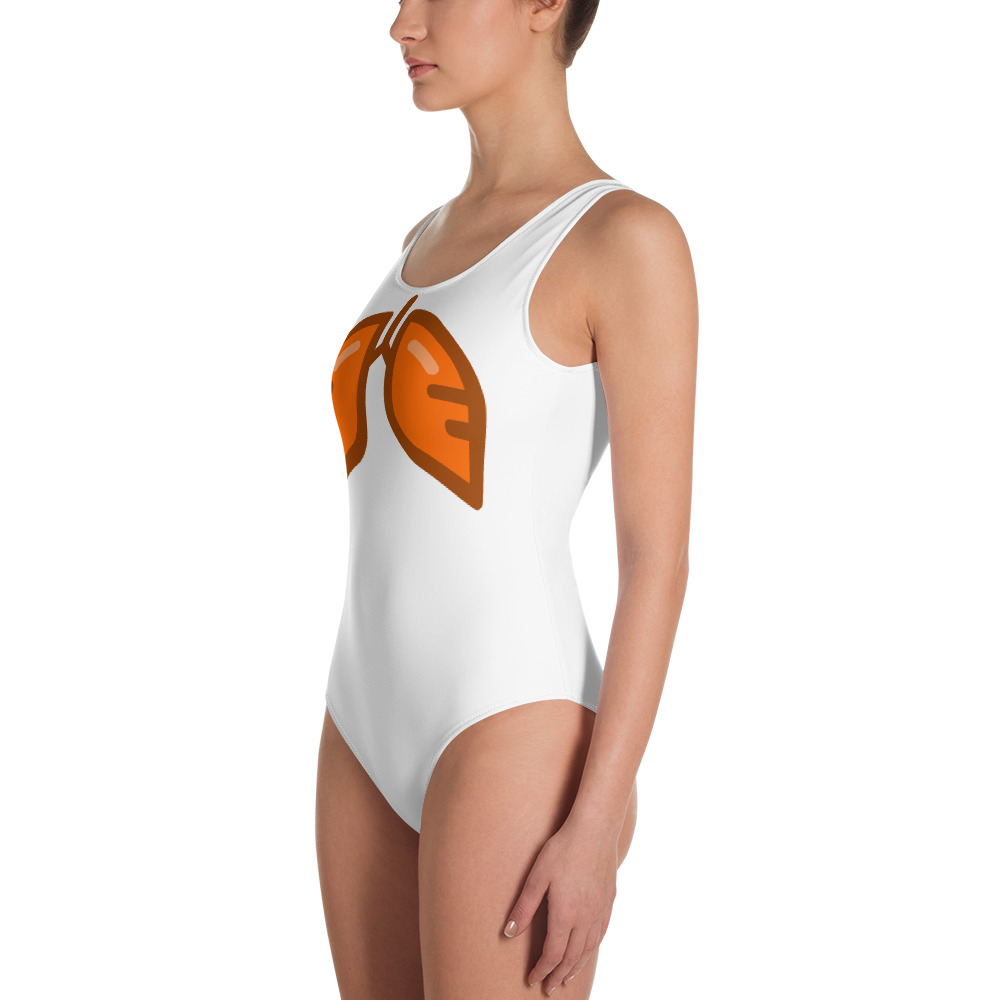 Neon Orange Icon One-Piece Swimsuit