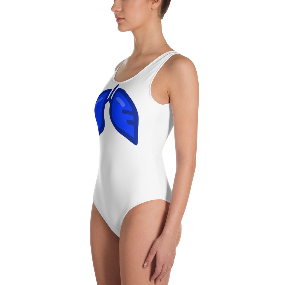 Neon Blue Icon One-Piece Swimsuit