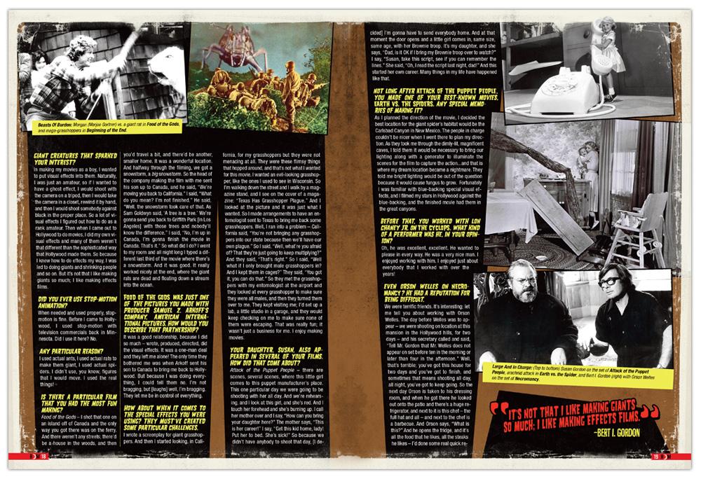 Graphic Design, Editorial Design, Horror, Layout, Design, Bert I Gordon, Monsters, Movies, Toronto, Illustration