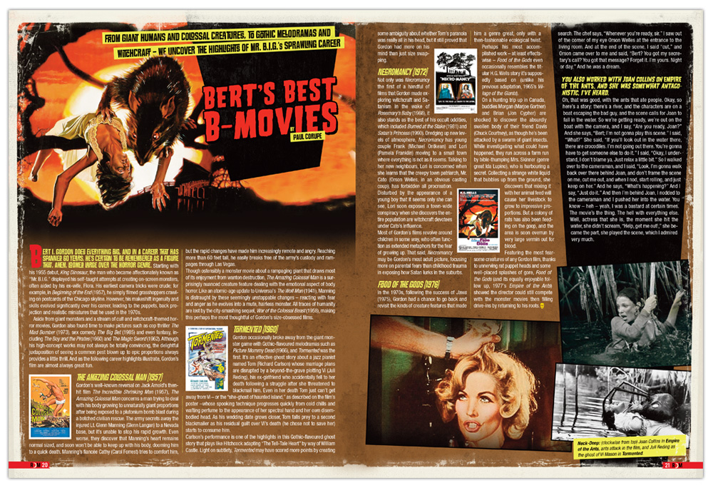Graphic Design, Editorial Design, Horror, Layout, Design, Bert I Gordon, Monsters, Movies, Toronto, Illustration