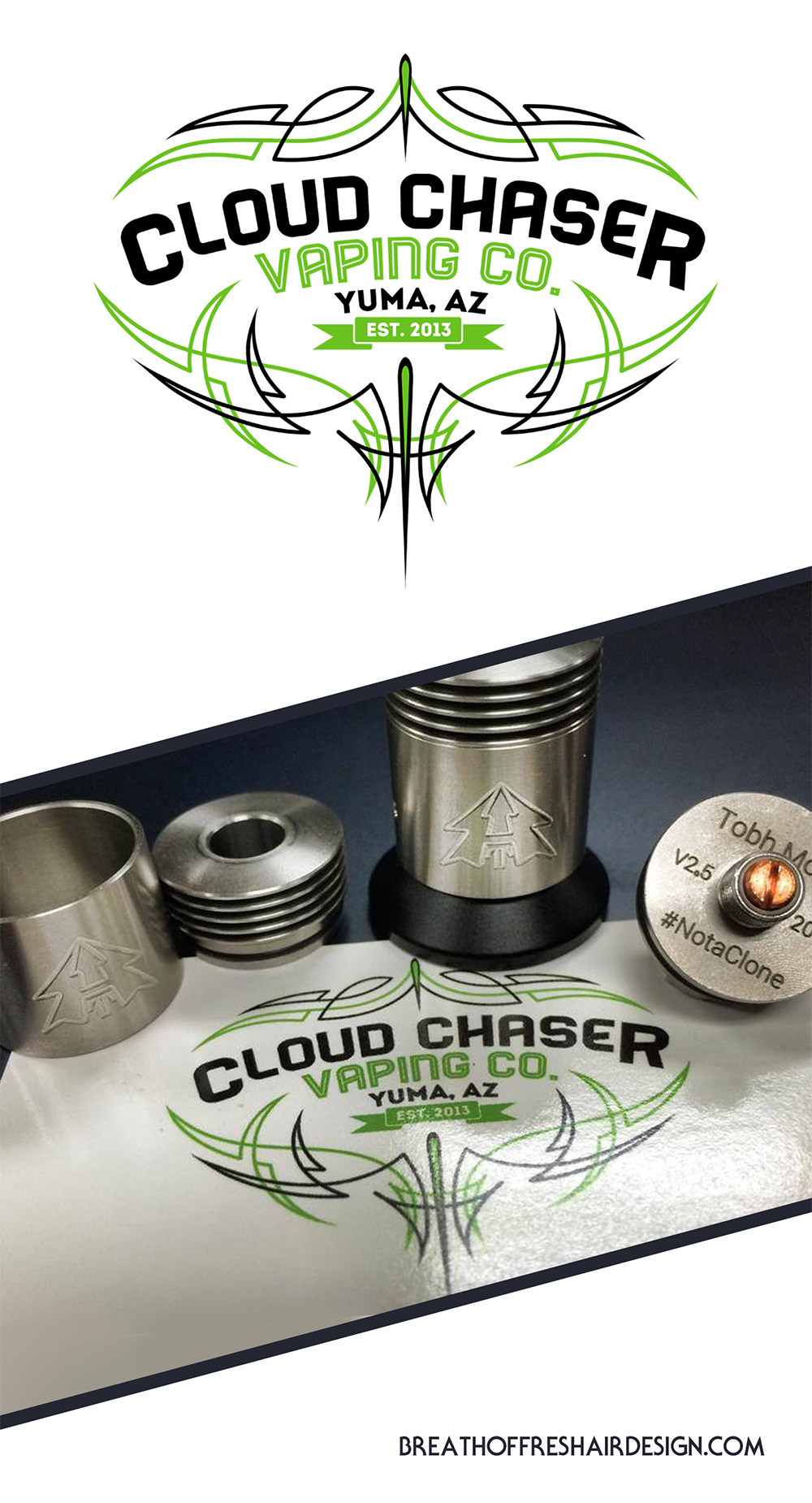 Cloud Chaser, Vape, Graphic Design, Logo Design, Vaping, Pinstriping, Smoking, Weed, Medicinal