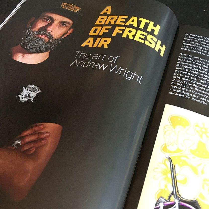 Gnarly Magazine, Andrew Wright, Breath Of Fresh Air Design, Kustom Art, Illustrator, Interview, Graphic Designer, Toronto, Artist, Digital Art, Hot Rods, Choppers, Motorcycles, Punk Rock, Chopper Art. Motorcycle Art, Pinstriping, Rolling Chaos