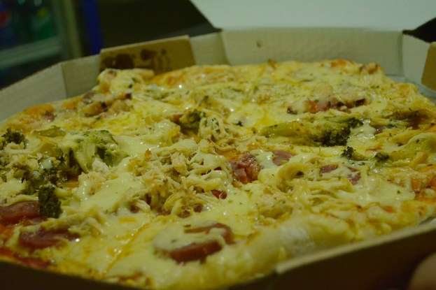 A pizza vegetariana!