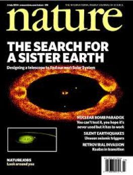 Uma das capas da revista Nature