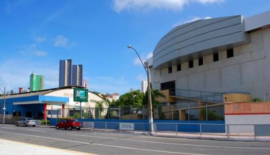 A entrada do Salesiano São José fica a Rua Henrique Castriciano