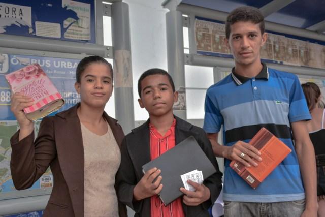 O trio Ellen Christina, Erick Hebert e Diego Francisco