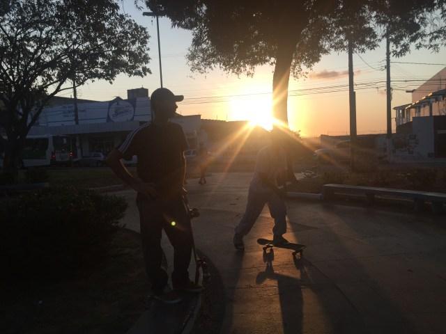 Praça André de Albuquerque sempre foi palco dos skatistas (Fotos: Lara Paiva)