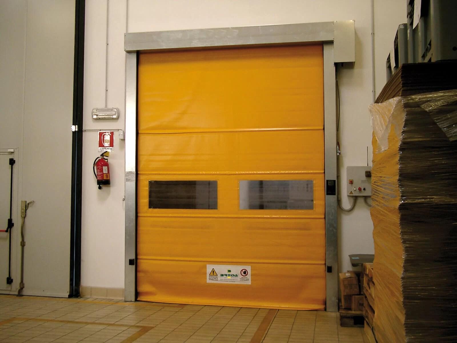 Porta rapida ad avvolgimento SAETTA - Giallo RAL 1003