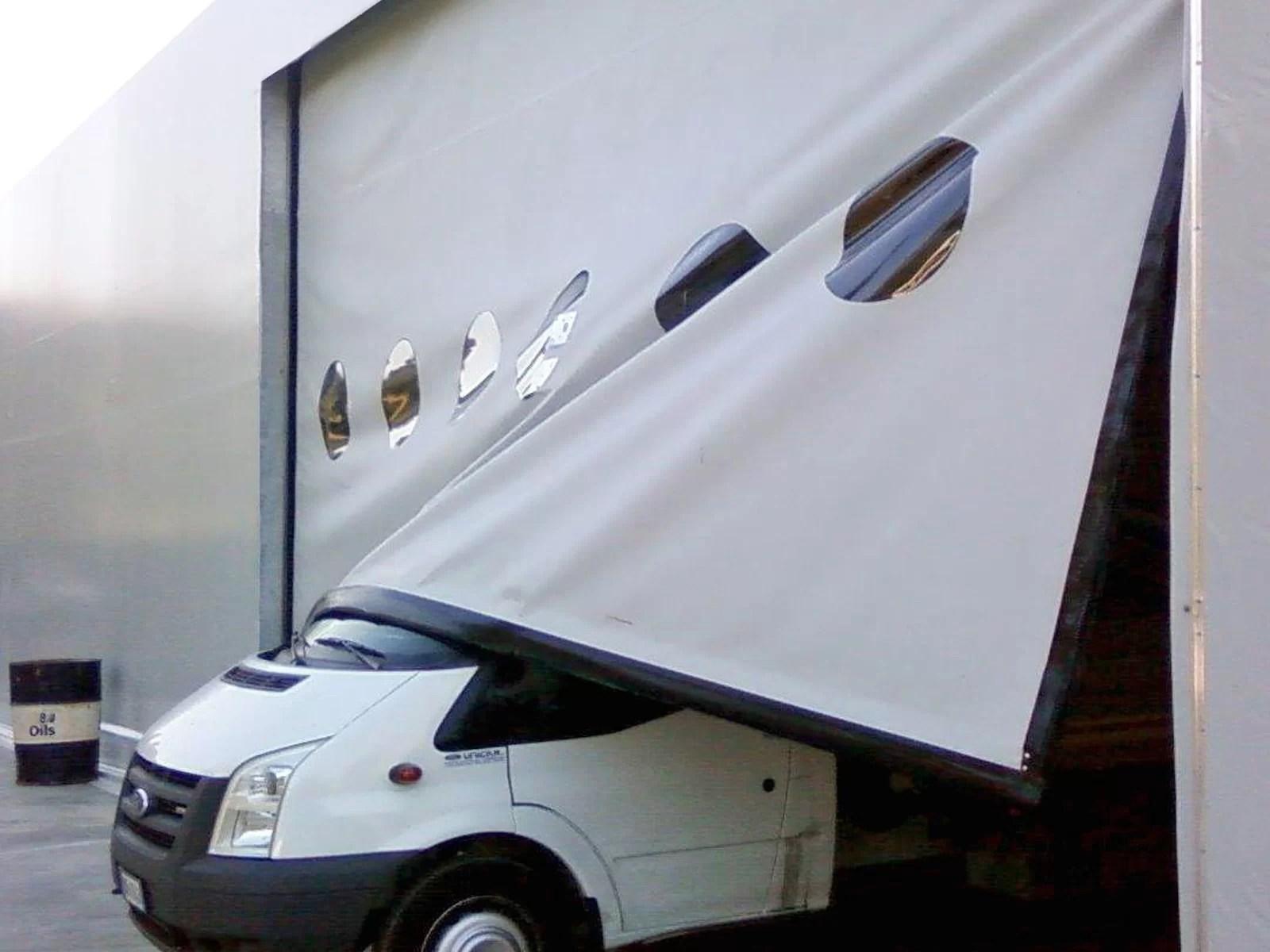 Porta rapida autoriparante ad avvolgimento LAMPO - Grigio RAL 7042