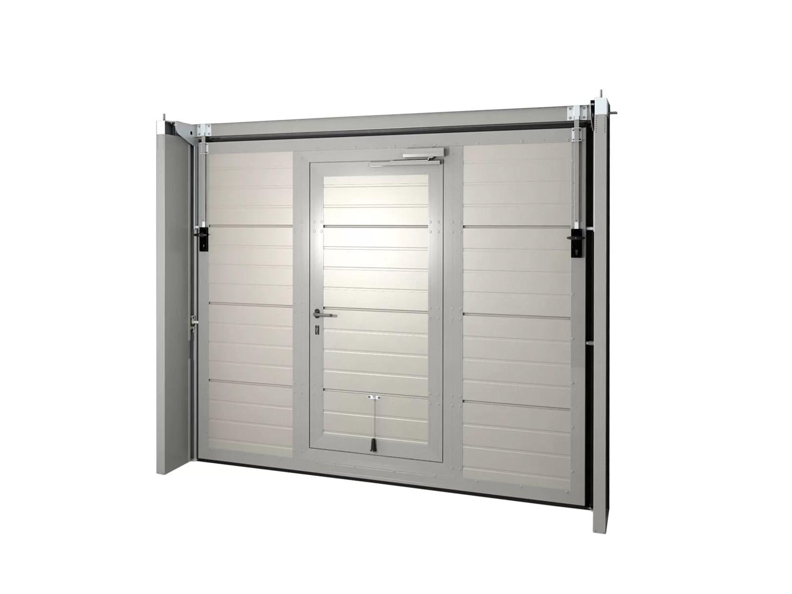 Portone basculante da garage SWING - Vista interna porta pedonale