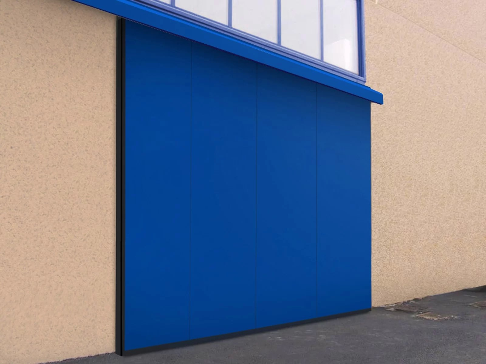Portone scorrevole industriale ATLANTE - Blu RAL 5010