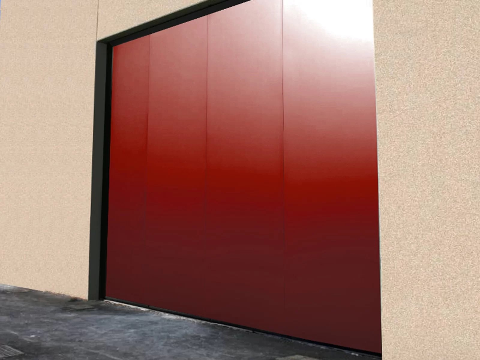 Portone scorrevole industriale ATLANTE - Rosso