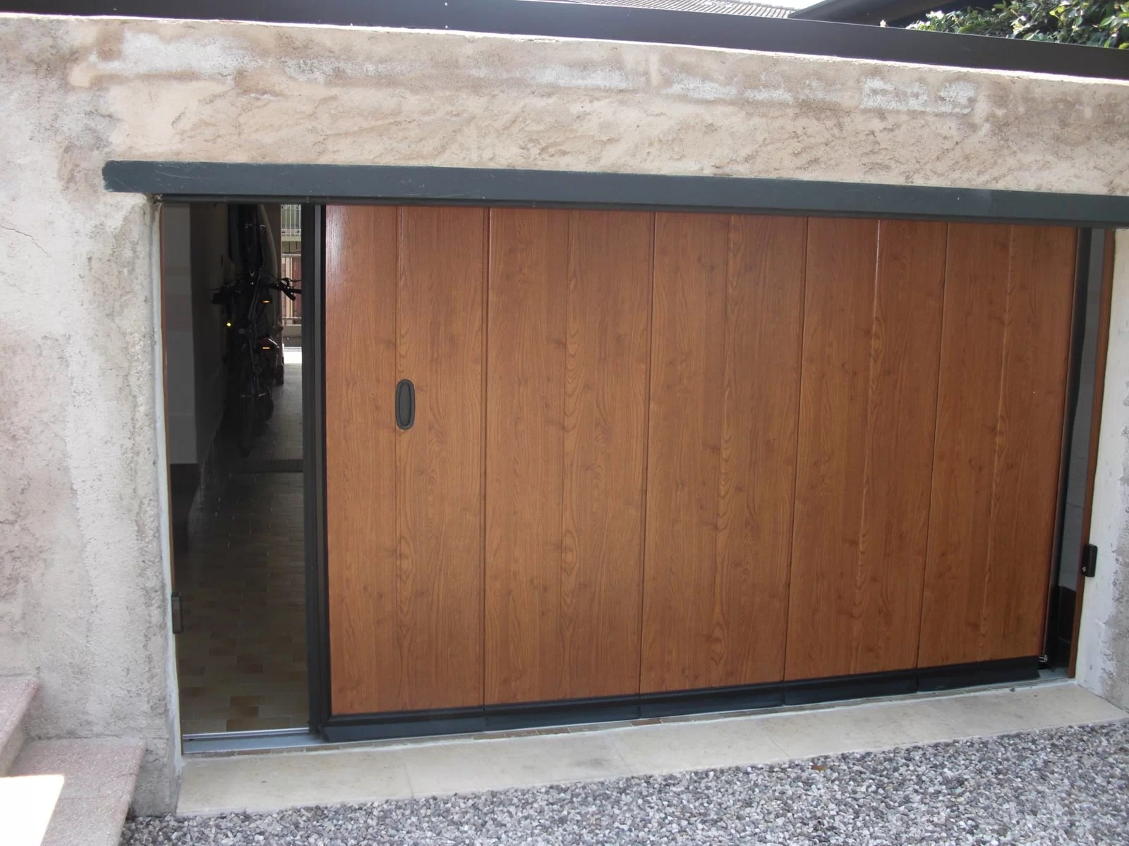 Portone sezionale laterale PHENIX - Simil legno quercia