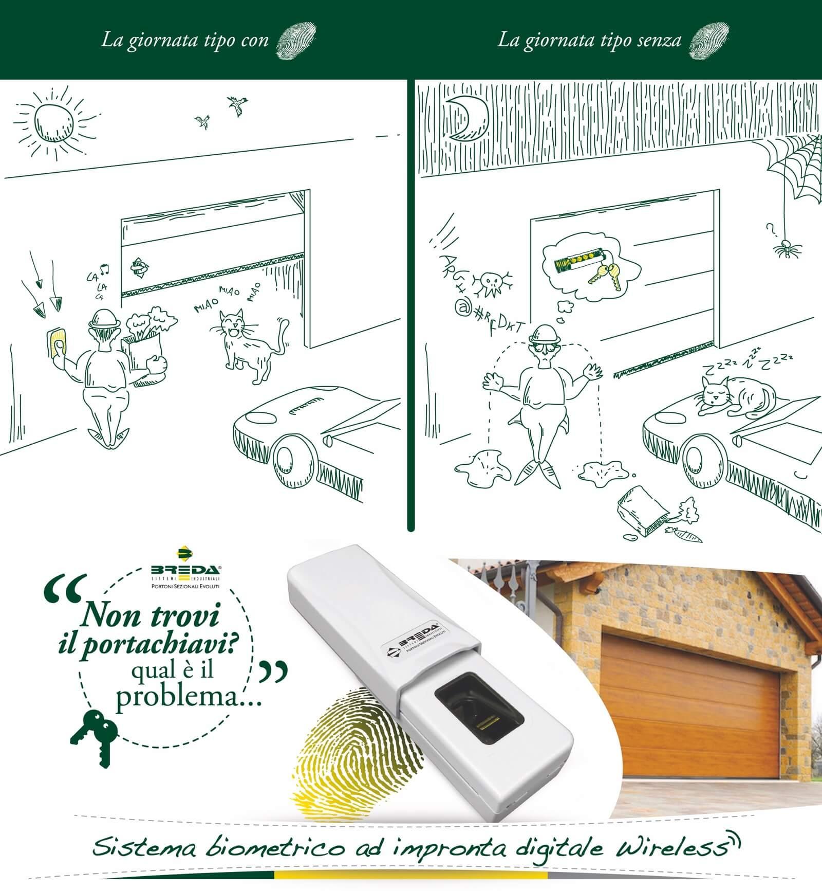 Lettore impronte digitali wireless Breda