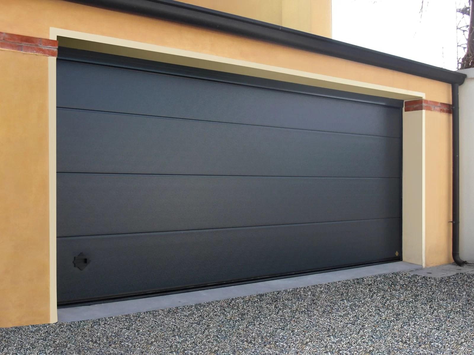 Portone sezionale da garage ARES - Stucco grigio 7016