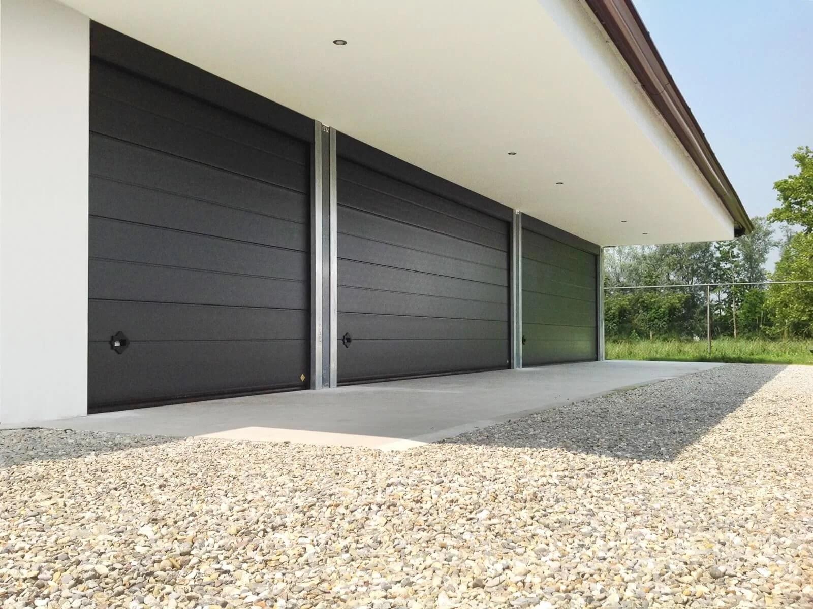 Portone sezionale da garage SIRIO - Stucco grigio RAL 7016