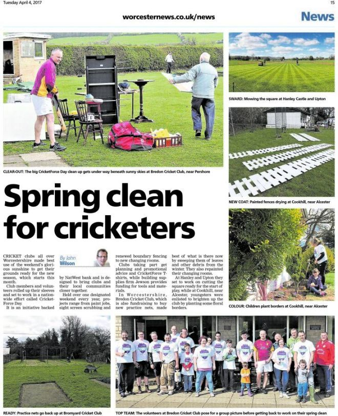 Worcester News coverage of CricketForce Day