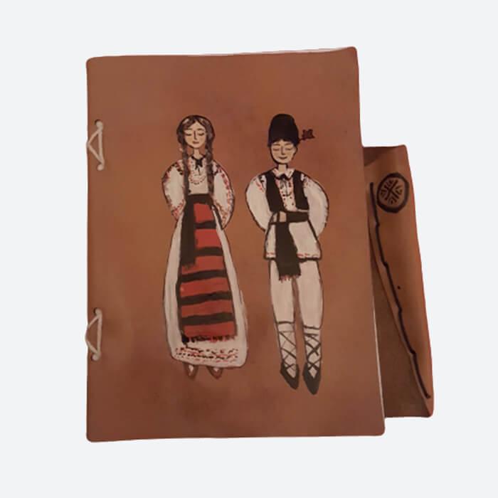 Agendă Breely Story tradițională din piele naturala lucrata manual handmade