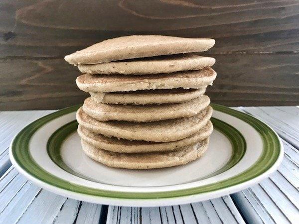 Stack of 3-ingredient vegan pancakes