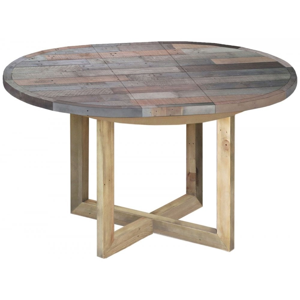 Sorrento Reclaimed Round Extending Table Dining Room From Breeze Furniture Uk