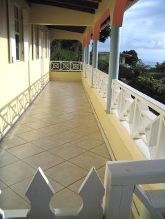 Full length porch - view looking North East