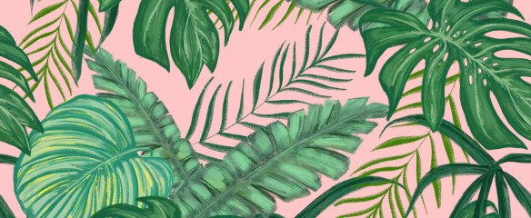 Tropical green and pink