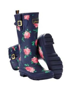 French Navy Peony Rain Boot by Joules $75.00