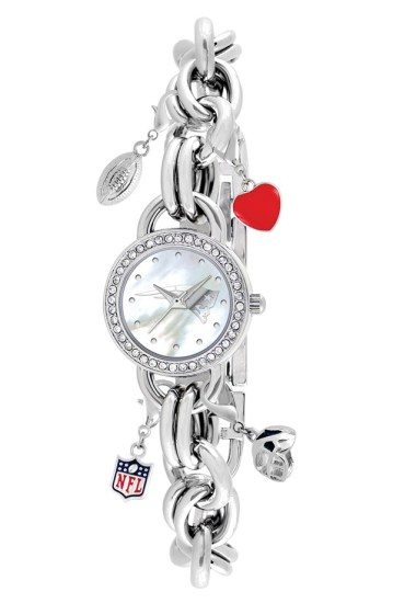 Game Time Watch. Keep time during the game with this football themed watch