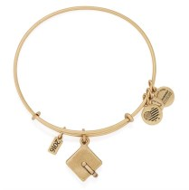 Graduation Cap Charm Bangle