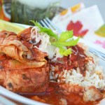 Slow Cooker Tomato and Artichoke Heart Braised Pork Chops