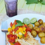Pan Seared Tilapia with Mango Mint Chutney