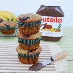 Nutella Stuffed Banana Muffins
