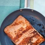 Maple Glazed Pan Seared Salmon